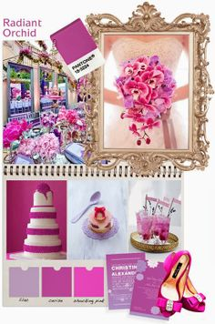 pantones pick for colour of the 2014 : radiant orchid. Our take on wedding ideas Wedding Color Schemes, Colour Schemes, Color Trends, Wedding Colors, Do It Yourself Wedding, Plan Your Wedding, Dream Wedding, Rose Violette, Wedding Themes