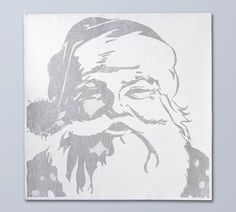 diy pottery barn santa canvas.  Use overhead projector to complete this.