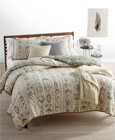 Whim by Martha Stewart Collection Freebird  100% Cotton Reversible Full/Queen Quilt, Created for Macy's | macys.com