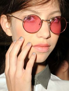 Great glasses! Great nails!  Behnaz Serafpour Spring 2013 Collection #nyfw