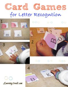 Letter Recognition Card Game for preschool reading