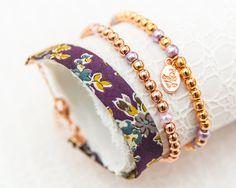 Liberty Rose Gold Bracelet Trio - Tatum through Plum