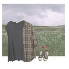 """""""away from home"""" by pizzamilkshake ❤ liked on Polyvore featuring Converse and Jennifer Zeuner"""