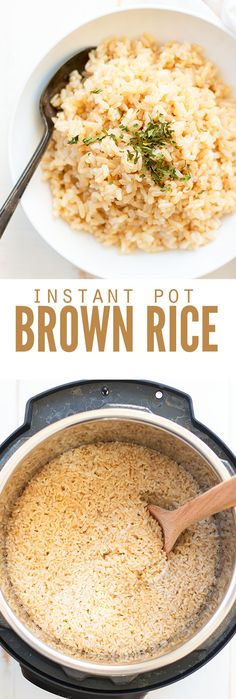 I used basmati in this instant pot brown rice recipe, but you can use any brown rice you want, or any electric pressure cooker - just cook on high pressure! It's pretty easy to learn how to cook rice Brown Rice Recipes, Rice Recipes For Dinner, Brown Recipe, Pressure Cooker Recipes, Pressure Cooking, Slow Cooker, Jasmine, How To Cook Everything, Light Appetizers