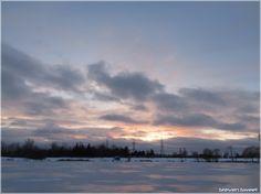 Clowdy Saturday sunset
