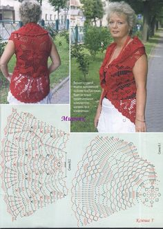 crochet round jackets, crochet patterns