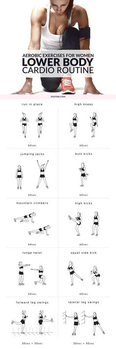 For women Get ready for your lower body workout with this set of warm up exercises. An at home routine with instructions, calories burned, music playlist and timer. http:workout-routinesat-home-no-equipment-lower-body-warm-up-exercises Workout Cardio, Cardio Training, Mental Training, Cardio Routine, Workout Warm Up, Workout Gear, No Equipment Workout, Hiit, Workout Routines