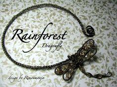Rainforest Dragonfly   JewelryLessons.com