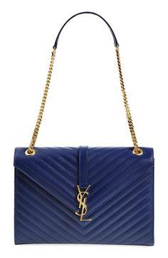 Saint Laurent 'Cassandre' Leather Shoulder Bag available at #Nordstrom
