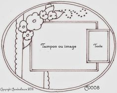 Claralesfleurs - Sketch de carte CD008