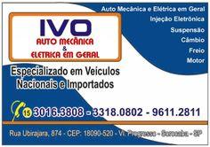 JORNAL AÇÃO POLICIAL SOROCABA E REGIÃO ONLINE: IVO  AUTO MECÂNICA E ELÉTRICA EM GERAL Rua. Ubiraj...