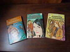 3 vtg 1970s Harlequin Romance paperback books #844, 1507, 1635 Marriage Request