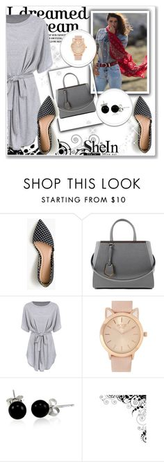 """Bez naslova #1704"" by albinnaflower ❤ liked on Polyvore featuring J.Crew, Fendi and Bling Jewelry"
