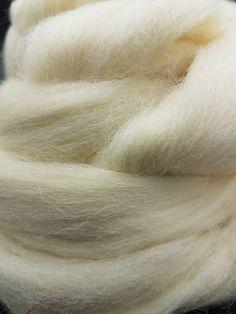 White 4 oz Paradise Fibers Norwegian Wool Top Perfect for Felting or Spinning Blending