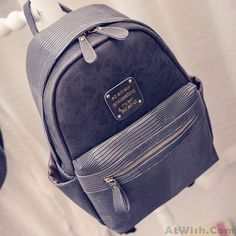 Original Splicing PU Crocodile Grained Leather Large Capacity School Backpack