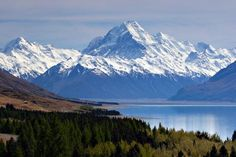 Lake Tekapo & Mount Cook, South Island, New Zealand I Love You Pictures, Amazing Pictures, Lake Tekapo, Mountain Photography, South Island, New Zealand, Alaska, Places To See, In This Moment