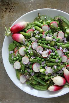 Avocado, Asparagus, Pea and Radish Sesame Salad by Heather Christo, via Flickr