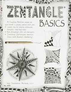 Zentangle Basics: A Creative Art Form Where All You Need Is Paper, Pencil & Pen