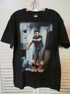 c1a949deb5 Seinfeld Kramer Shirt Giddy Up! Rare Tee Size Large Vintage Cosmo 1990s  #NBCExperienceStore Seinfeld