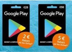 Rewe: Bis zu fünf Euro Sofortrabatt beim Kauf von Google-Play-Karten https://www.discountfan.de/artikel/technik_und_haushalt/rewe-bis-zu-fuenf-euro-sofortrabatt-beim-kauf-von-google-play-karten.php Bei Rewe wird noch bis Samstag der Kauf von Google-Play-Guthabenkarten mit einem Sofortrabatt von zwei bis fünf Euro belohnt. Die Aktion gilt in jedem Rewe-Markt deutschlandweit. Rewe: Bis zu fünf Euro Sofortrabatt beim Kauf von Google-Play-Karten (Bild: Rewe.de) Um an den Rew