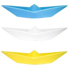 White Ceramic Paper Boat