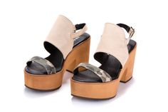 Sale 50% off Platform sandals  Women ankle strap by ImeldaShoes