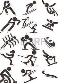 Illustration of Silhouette set of different winter sports skiing part 1 vector art, clipart and stock vectors. Olympic Icons, Olympic Sports, Sports Day, Winter Sports, Bobsleigh, Madhubani Art, Sport Icon, Winter Olympics, Pictogram