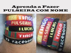 DIY #1: Pulseira com Nome/ Pulseira Hippie/Pulseira da Amizade #1 - YouTube Mais