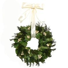 Urban Florals White Berry Christmas Wreath
