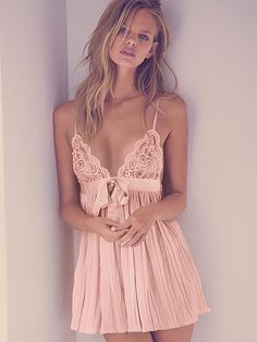 Would love this for my honeymoon....Victoria Secret Pleated Babydoll Very Sexy