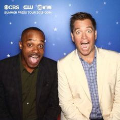 Rocky Carroll and Michael Weatherly