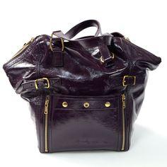 ysl camel patent leather handbag downtown