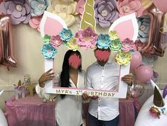 I cut and handmade this adorable Photo Booth frame for my daughters 1st birthday! It suited the unicorn theme perfectly and was very popular with all the guests. This was a great way to create memories of the day and take lots of fun pictures! After placing your order, please message me