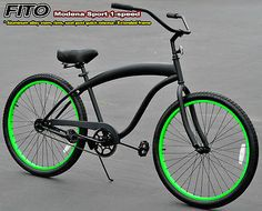 Fito Modena Sport 1 Sd Men S 26 Beach Cruiser Bike Mblk Green