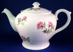 Shelley Eglantine Teapot Henley Perth Cambridge Shape Bone China Pink Floral