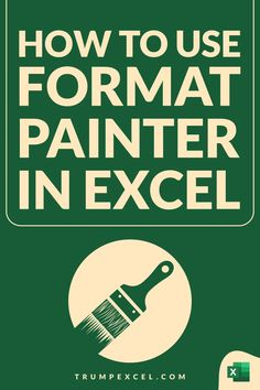 Excel Format Painter allows you to quickly copy formatting from any cell or range of cells and paste in any other location. It's an amazing tool that can save you a lot of time. It also allows you to quickly copy conditional formatting and paste it in a different range of cells. In this article, I cover how you can activate and use format painter in Excel Microsoft Excel, Excel For Beginners, Computer Shortcut Keys, Excel Hacks, Pivot Table, Fun Fall Activities, Ms, Software, Range