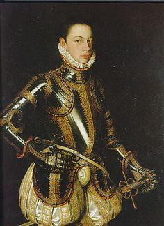 Alessandro Farnese son of Margaret of Parma and Ottavio Farnese Duke of Parma,c 1550s by Alonso Sanchez Coello