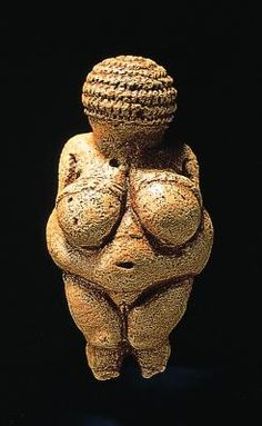 1. Woman from Willendorf 3. Prehistoric 24,000 BCE 4. Carved from limestone colored with red ocher. 5. Found in Austria. 6. Now resides in Naturhistorisches Museum, Vienna, Austria 7. Example of attributes. 9. This is known as the most famous Paleolithic female figurine. The exaggerated attributes symbolizes high fertility which was a common subject for prehistoric sculptors.