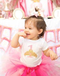 Royal PRINCESS 1st Birthday Party via Kara's Party Ideas KarasPartyIdeas.com Cake, banners, recipes, favors, and more! #princessparty #princessbirthdayparty #princesspartyideas (6)