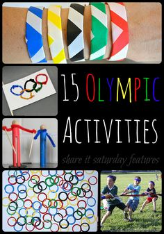 Olympic Activities for Kids A GREAT collection of Olympic activities for the kiddos (Share It Saturday features)!A GREAT collection of Olympic activities for the kiddos (Share It Saturday features)!