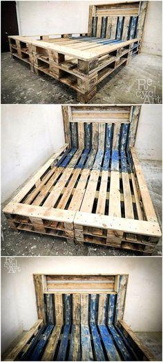 repurbished pallet bed frame