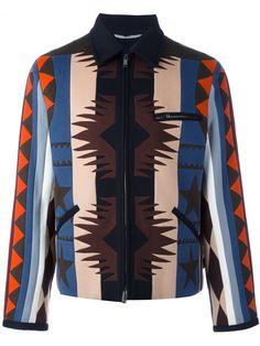 Valentino navajo-style pattern bomber jacket