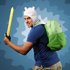 Adventure Time Finn & Jake Hoodie/Hooded Backpack/Bookbag/Tote Hat w/Ears! Adventure Time Finn, Adventure Time Hoodie, Adventure Time Backpack, Latest Gadgets, Cool Gadgets, Finn The Human, Used Video Games, Take My Money, Geek Gear