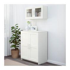 BRIMNES Kast met deuren, wit wit 78x95 cm