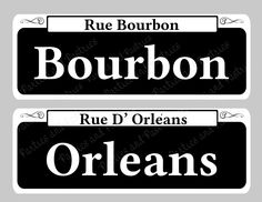 NEW ORLEANS SIGNS - New Orleans Street Sign Table Numbers Set of 10 - Mardi Gras - Centerpiece Wedding Signs - Bourbon St - Table Decoration by PartiesandPastries on Etsy