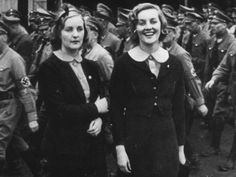 Diana Mosley (1910-2003)  (nee Mitford) (right), and her sister Unity pictured in Germany. Picture from  book: Diana Mosley by Anne de Coucy. Source: News Limited   Diana was a great beauty whose second husband was Sir Oswald Mosley, leader of the British Union of Fascists which supported Hitler's Nazis while rejecting a German invasion. The 1936 wedding was held at the home of Joseph Goebbels (Hitler's Minister of Propaganda), with Hitler himself a guest of honour