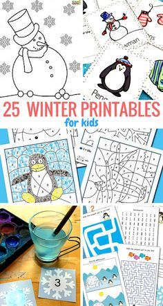 Winter printables for kids - fun learning for toddlers, preschoolers and kindergarteners