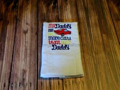 Burp Cloth My Daddy can sell more cars than by CheyBabyCreations, $12.00