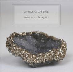 DIY Borax Crystals Tutorial by Rachel and Sydney Kick