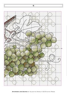 Gallery.ru / Фото #7 - Ajisai Designs - Sparrows and Grapes - tymannost